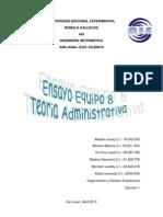 Ensayo Equipo 8 Teoria Administrativa (Planificaci-¦ón)