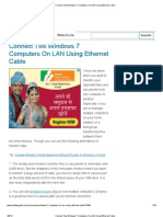 Connect Two Windows 7 Computers on LAN Using Ethernet Cables