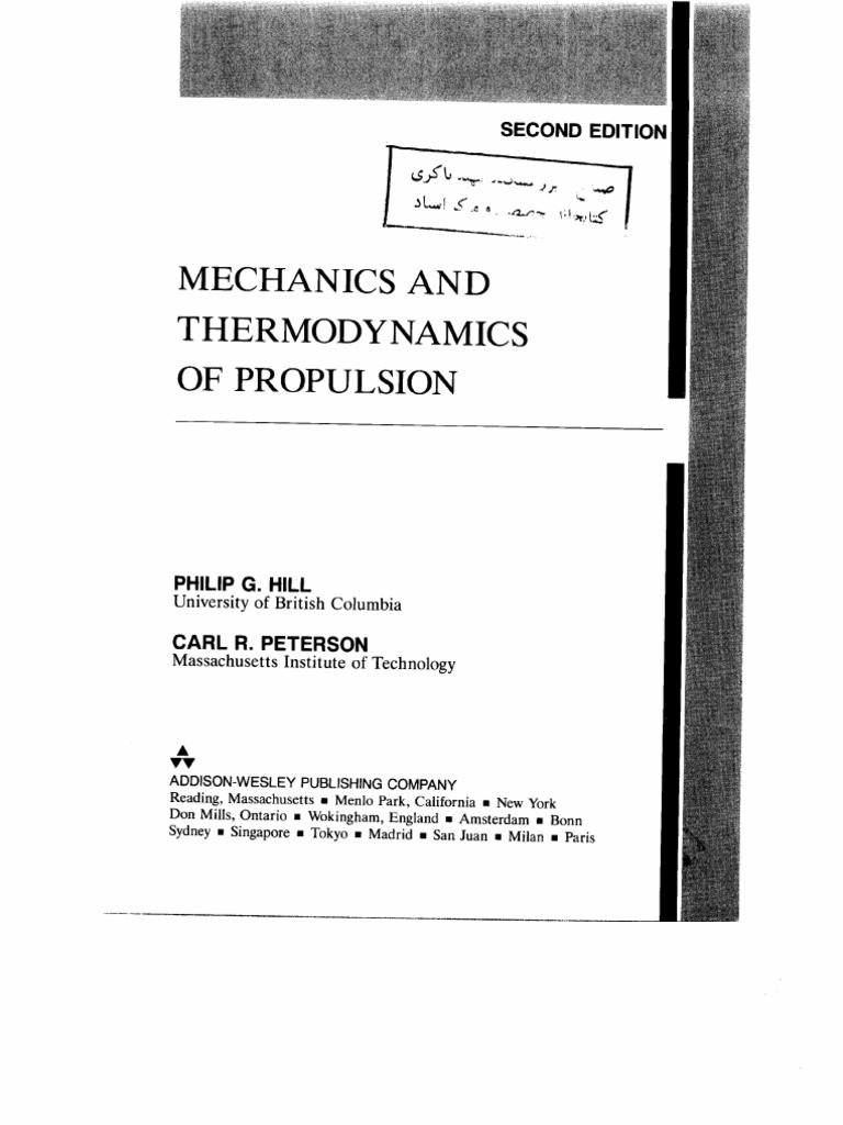mechanics and thermodynamics of propulsion rh pt scribd com