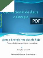 Uso Racional de Água e Energia