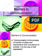Comunication Barriers