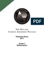 EDU-NECAP 2011 Released Items Grade 7 Math