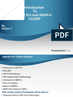 Introduction Into ABAP