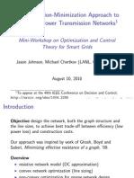 A Majorization-Minimization Approach to Design of Power Transmition Networks