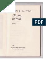 Cezar Baltag - Dialog la mal (1985)