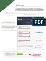 Crear Cuenta en No-ip.com