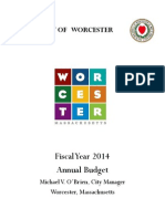 Worcester City Manager's Fiscal Year 2014 Budget Recommendation