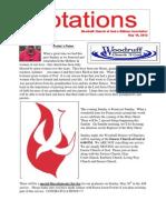 Newsletter 5.14.13