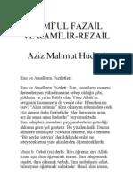 Cami'ul Fazail (Aziz Mahmut Hüdayi Hazretleri)
