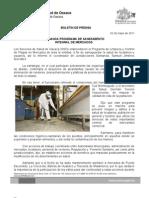 02/05/11 Germán Tenorio Vasconcelos arranca Programa de Saneamiento Integral de Mercados
