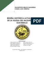 Reseña Histórica Iglesia Nazareno Guatemala