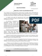 6/05/11 Germán Tenorio Vasconcelos conforman en La Costa Voluntariados de SSO