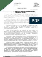 19/05/11 Germán Tenorio Vasconcelos CAPACITA SSO A PERSONAL DE PLANTAS PURIFICADORAS Y FÁBRICAS DE HIELO