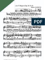 Clementi Sonatina Fa magg. op. 36 n°4