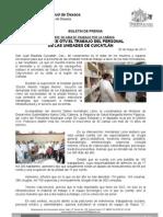 20/05/11 Germán Tenorio Vasconcelos Reconoce el trabajo del personal de las unidades de Cuicatlán