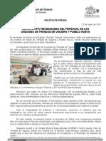 22/05/11 Germán Tenorio Vasconcelos escucha Necesidades Del Personal de Unidades de Viguera y Pueblo Nuevo