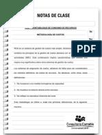 Nota de Clase 50 RCA - Contabilidad de Consumo de Recursos