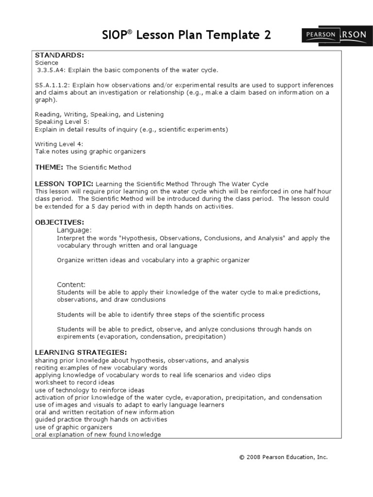 Lesson Plan In Science And Health College Paper Writing Service - Health lesson plan template
