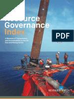 Resource Governance Index 2013