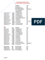 2013 PSCL Team Master Schedule Cardinals