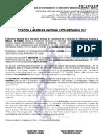 Citacion Asamblea Nacional Extraordinaria2013