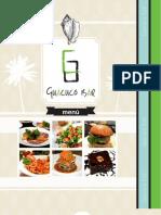 Guacuco Bar Menu