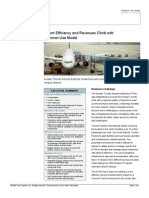Airport Efficiency and Revenues Climb With Common Use Model-Toronto Airport Case Study