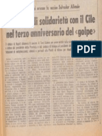 3, Anniversario Dell'Assassinio Di Allende - 1976