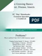Coffee Basics- Pests Disease Nutrition