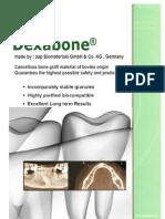 DEXABONE - material de aditie osoasa de origine bovina