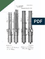 US Patent 502185 Gatling Gun (Electric)