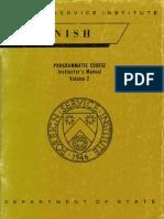 Fsi SpanishProgrammaticCourse Volume2 InstructorManual