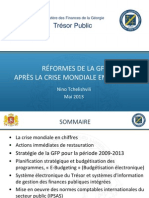 Réformes de la GFP   Après la crise mondiale en Géorgie