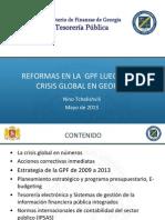 Reformas en la  GPF luego de la crisis global en Georgia