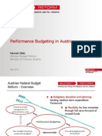 Performance Budgeting in Austria