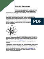 Definición de átomo