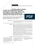 Prevalence of Antibodies Against Measles, Mumps and Rubella Before and After Vaccination of School-Age Children With Three Differente Triple Combined Viral Vaccines,