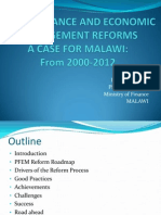 Public Finance and Economic Management Reforms in Malawi