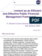 Open Government as an Efficient and Effective Public Financial Management Framework
