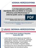 Application of international auditing standards (ISA and ISSAI) to increase efficiency and effectiveness of external public sector auditing