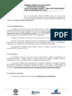 Edital Programa Institucional de Bolsas de Iniciação Científica _EDITAL_PIBIC_2011-2012