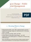 Choosing to Change – Public Financial Management