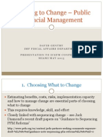 Choosing to Change – Public Financial Management