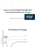 Organizational Change Management – Assessing Readiness for Change