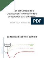 Gestión del Cambio de la Organización - Evaluación de la preparación para el cambio