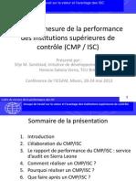Cadre de mesure de la performance des institutions supérieures de contrôle (CMP / ISC)