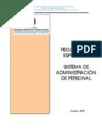 RE_SAP(Reglamento Del Sistema de Administracion de Personal)