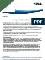UGL - Earnings guidance and market outlook