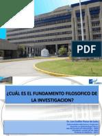 Cual Es El Fundamento Filosifico de La Investg-UNFV-2012
