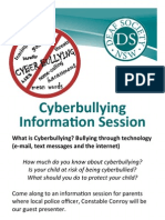Cyberbullying Information Session